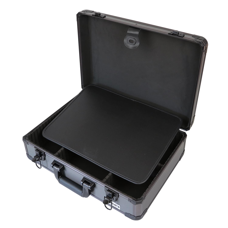 hmf werkzeugkoffer leer aufbewahrungskoffer universalkoffer alu individuell ebay. Black Bedroom Furniture Sets. Home Design Ideas