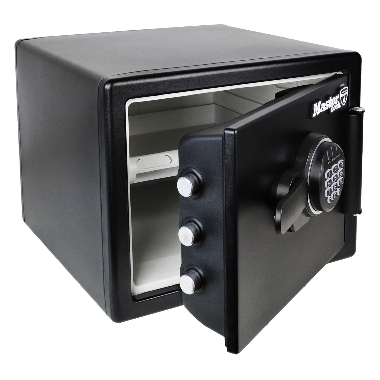 feuerfester tresor elektronikschloss master lock lfw082ftc din a4 feuerschutz ebay. Black Bedroom Furniture Sets. Home Design Ideas
