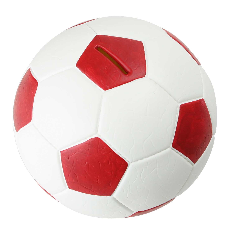 HMF Spardose Fußball Lederoptik 15 cm Sparbüchse Sparschwein ...