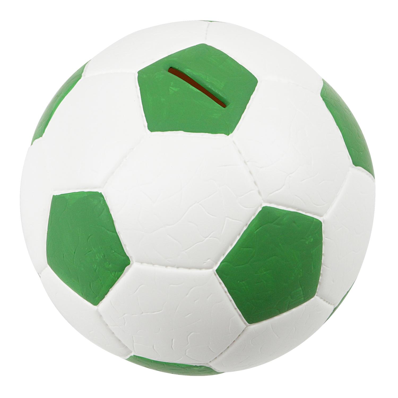 HMF-Spardose-Fussball-Lederoptik-15-cm-Sparbuechse-Sparschwein-verschiedene-Farben