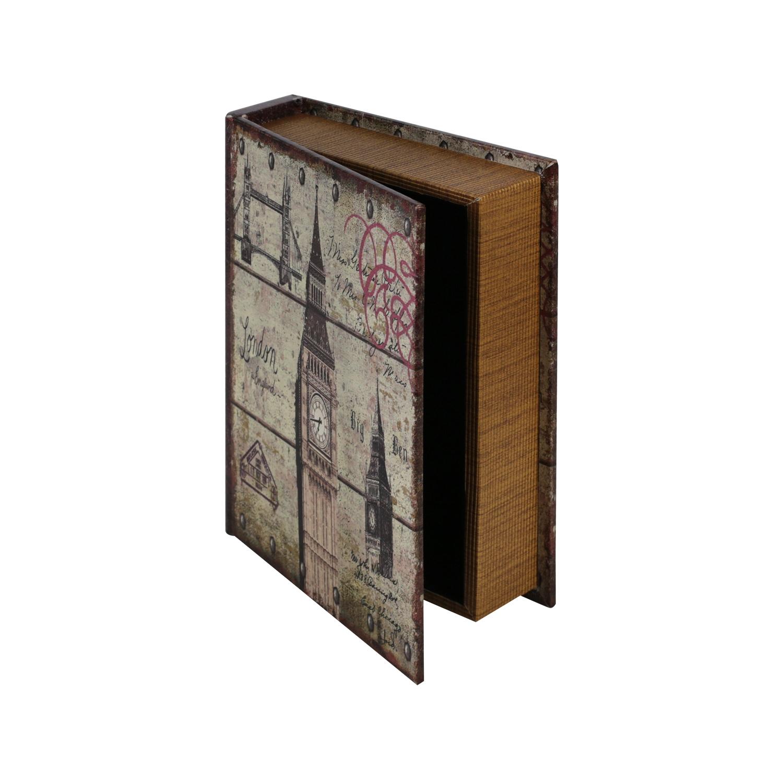 HMF Buchtresor Antik-Look 3er Set Geldversteck Buchsafe als Buch getarnt Geheim