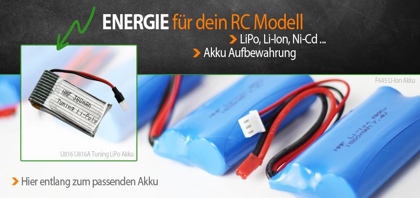 RcErsatzteile Akkus - Energie für dein RC Modell