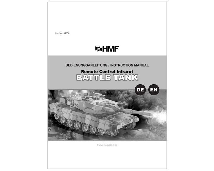 69050 69060 69070 RC Panzer Bedienungsanleitung