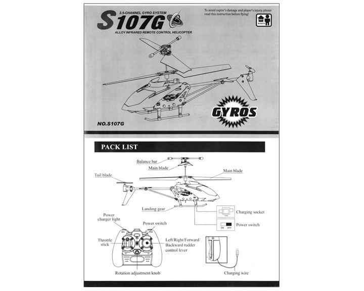 S107 Syma Bedienungsanleitung