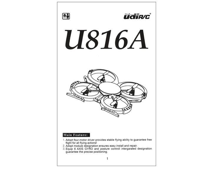 U816 UDIRC Bedienungsanleitung