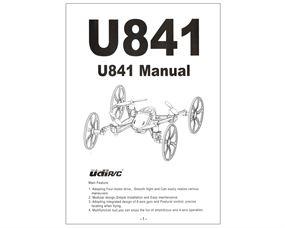 U841 UDIRC Bedienungsanleitung