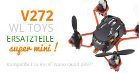 Eine Handvoll Quadrocopter - Ersatzteile für die Mini Drohne V272 von WL Toys
