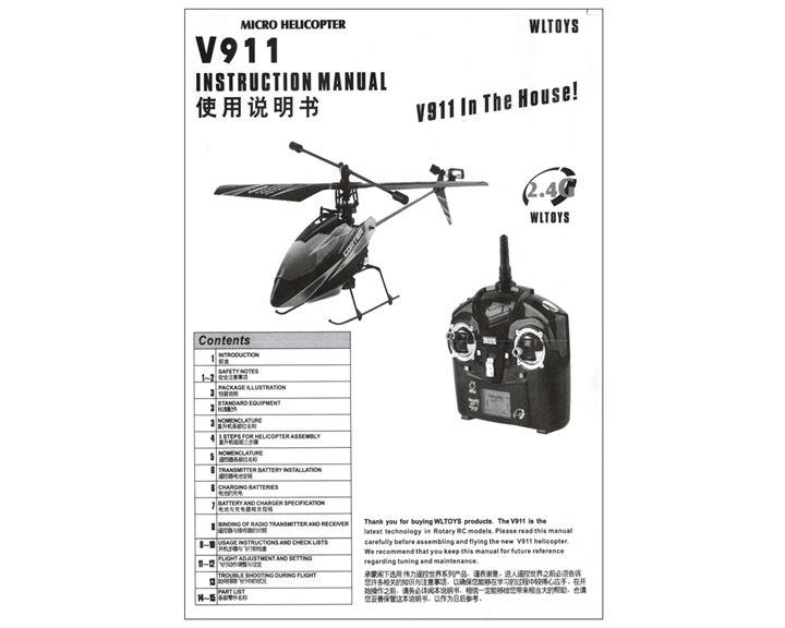 V911 WL Toys Bedienungsanleitung