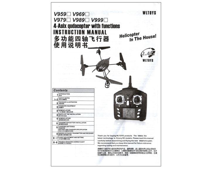 V959 V969 V979 V989 V999 WL Toys Bedienungsanleitung