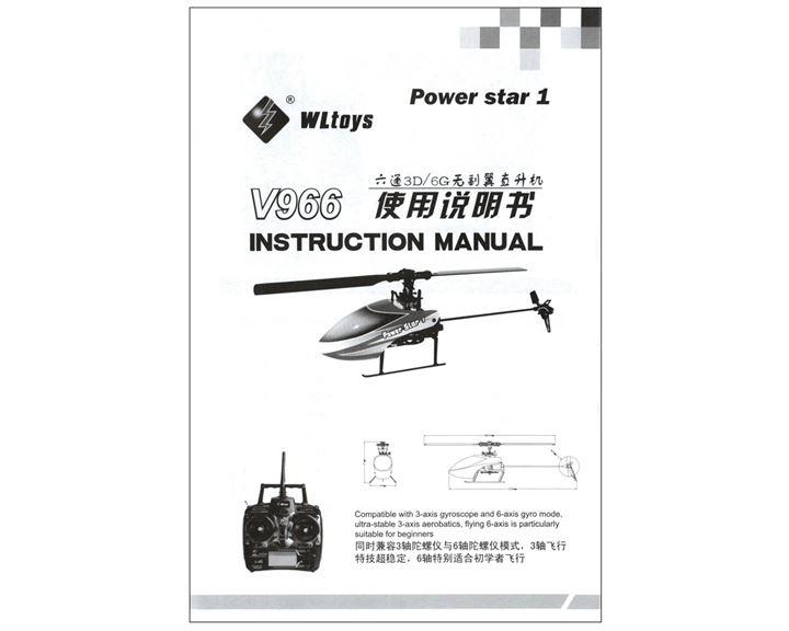 V966 WL Toys Bedienungsanleitung